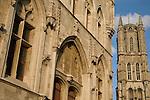Belfort - Belfry (foreground), St Baakskathedraal - Bavo Cathedral, Ghent, Belgium, Europe