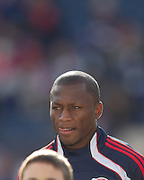 New England Revolution forward Sainey Nyassi (17). In a Major League Soccer (MLS) match, the New England Revolution defeated DC United, 2-1, at Gillette Stadium on March 26, 2011.