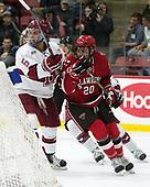 Clay Anderson (Harvard - 5), Joe Sullivan (SLU - 20) - The Harvard University Crimson defeated the St. Lawrence University Saints 6-3 (EN) to clinch the ECAC playoffs first seed and a share in the regular season championship on senior night, Saturday, February 25, 2017, at Bright-Landry Hockey Center in Boston, Massachusetts.