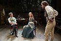 London, UK. 21.11.2013.  LIZZIE SIDDAL, a new play by Jeremy Green, opens at the Arcola Theatre. Picture shows: James Northcote (John Everett Millais), Emma West (Lizzie Siddal) and Tom Bateman (Dante Gabriel Rosetti). Photograph © Jane Hobson.