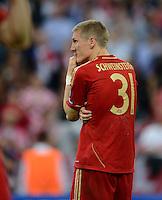 FUSSBALL   SAISON 2011/2012   CHAMPIONS LEAGUE FINALE FC Bayern Muenchen - FC Chelsea  19.05.2012 Bastian Schweinsteiger (FC Bayern Muenchen) enttaeuscht