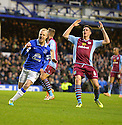 Football-Everon v Aston Villa-Barclays Premier League-Goodison Park-01/02/2014-Pictures by Paul Currie-KEEP-Everton's Steven Naismith celebrates scoring his goal against Aston Villa