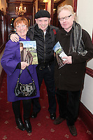 """NO REPRO FEE. 17/1/2010. The Field opening night.  Margret Shiels, Brush Shiels and Paul Brady  are pictured at the Olympia Theatre for the opening night of John B Keanes 'The Field"""" Picture James Horan/Collins"""
