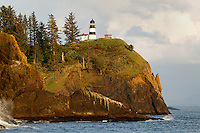 Cape Disappointment Lighthouse, at the mouth of the Columbia River, Washington.
