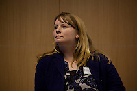 Michelle Stanistreet, NUJ General Secretary - 2012<br /> <br /> London, 11/04/2012, Friend's House, Euston road. Today a meeting was organised by the NUJ (National Union of Journalists) Freelance Office to discuss the plans for policing the London 2012 Olympic Games. The speakers included: Chris Allison (Assistant Commissioner with the Metropolitan Police and National Olympic Security Coordinator) and Bob Broadhurst (Commander and 2012 Olympics Gold Command for the Metropolitan Police). Chair of the event was Michelle Stanistreet (NUJ General Secretary).