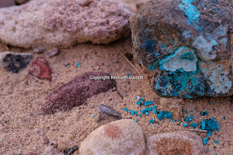 Copper ore, Wadi Faynan, western Jordan, mined from Copper Age site