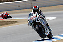 July 24, 2010 - Laguna Seca, USA - Fiat-Yamaha team's Spanish rider, Jorge Lorenzo, powers his bike during a free practice prior to the U.S. Grand Prix held on July 25, 2010. (Photo Andrew Northcott/Nippon News)