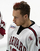 Jake Horton (Harvard - 19) - The Harvard University Crimson defeated the Yale University Bulldogs 6-4 in the opening game of their ECAC quarterfinal series on Friday, March 10, 2017, at Bright-Landry Hockey Center in Boston, Massachusetts.