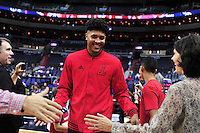 Rookie Kelly Oubre, Jr. enters the Verizon Center in a game against the New York Knicks on Friday, October 9, 2015.  Alan P. Santos/DC Sports Box