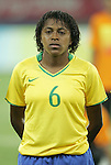 09 August 2008: Maycon (BRA).  The women's Olympic soccer team of Brazil defeated the women's Olympic soccer team of North Korea 2-1 at Shenyang Olympic Sports Center Wulihe Stadium in Shenyang, China in a Group F round-robin match in the Women's Olympic Football competition.