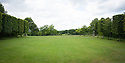 View from formal lawn over ha-ha to Deer Park at Clinton Lodge, Fletching, East Sussex.