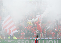 20 October 2012: Security guards remove a smoke bomb during an MLS game between the Montreal Impact and Toronto FC at BMO Field in Toronto, Ontario Canada. .The ended in a 0-0 draw..