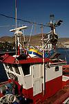 Colourful fishing boat cabin,Puerto Mogan, Gran Canaria, Canary Islands, Spain