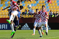 VINA DEL MAR, Chile - Tuesday, October 20, 2015: The USMNT U-17 go up 2-0 over Croatia to begin the second half in first round group play during the 2015 FIFA U-17 World Cup at Stadium Sausalito.