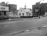 Pittsburgh PA:  View Marbett's Restaurant in the East Liberty section of Pittsburgh - 1952.