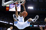 15 November 2015: UNC's Bryce Johnson dunks the ball. The University of North Carolina Tar Heels hosted the Fairfield University Stags at the Dean E. Smith Center in Chapel Hill, North Carolina in a 2015-16 NCAA Division I Men's Basketball game. UNC won the game 92-65.