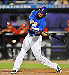 5 March 2012: New York Mets outfielder Adam Loewen in action during a Spring Training game against the Washington Nationals at Digital Domain Park in Port St. Lucie, Florida. The Nationals defeated the Mets 3-1 in Grapefruit League play. Mandatory Credit: Ed Wolfstein Photo