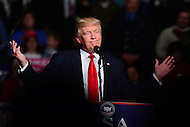 "Hershey, PA - December 15, 2016: President-elect Donald J. Trump speaks to supporters at a rally during his ""Thank You Tour"" at the Giant Center in Hershey, PA, December 15, 2016.  (Photo by Don Baxter/Media Images International)"