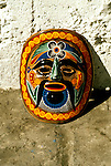 Cruising: Mexico, handicrafts, painted wooden mask, Ixtapa, Photo: crumex102  .Photo Copyright: Lee Foster, (510) 549-2202, lee@fostertravel.com, www.fostertravel.com