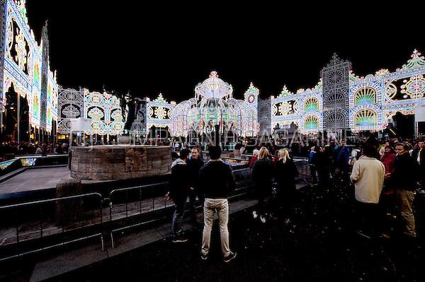 The Il Giardino Incantato installation from Luminarie De Cagna at the Glow Lightfestival in Eindhoven (Holland, 11/11/2015)