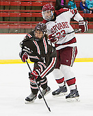 David Valek (Harvard - 23), Joey de Concilys (Brown - 11) - The visiting Brown University Bears defeated the Harvard University Crimson 2-0 on Saturday, February 22, 2014 at the Bright-Landry Hockey Center in Cambridge, Massachusetts.