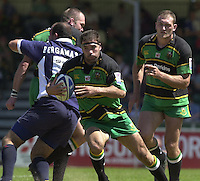 01/06/2002.Sport - Rugby - Zurich Championship.Bristol v Northampton.Budge Pountney, on the run.   [Mandatory Credit, Peter Spurier/ Intersport Images].