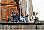 South America, Ecuador, Quito. Local Ecuadorians of Quito.