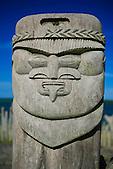 Sculpture kanak, baie de Saint-Maurice, Ile des Pins, Nouvelle-Calédonie