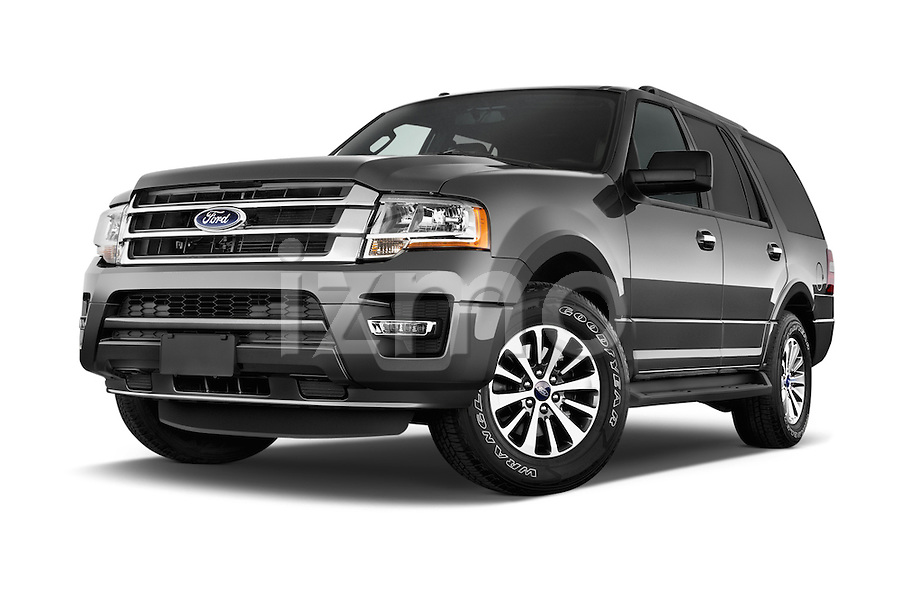stock pictures of low aggressive front three quarter view of a 2015 ford expedition xlt 5 door. Black Bedroom Furniture Sets. Home Design Ideas