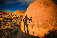 """I call it """"Shadow Fun"""" and I look for these FUN opportunities to get a great silhouette or shadow photo...sometimes it's just hard to get out of your own way at sunset so I have FUN with it!"""