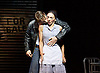 The Car Man <br /> by Matthew Bourne <br /> at Sadler's Wells, London, Great Britain <br /> press photocall<br /> 16th July 2015 <br /> <br /> Act 2 Duet with Rita &amp; Angelo <br /> <br /> Kate Lyons as Rita <br /> Liam Mower as Angelo <br /> <br /> <br /> <br /> <br /> Photograph by Elliott Franks <br /> Image licensed to Elliott Franks Photography Services