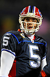 17 November 2008:  Buffalo Bills' quarterback Trent Edwards glances upward prior to facing the Cleveland Browns at Ralph Wilson Stadium in Orchard Park, NY. The Browns defeated the Bills 29-27 in the Monday Night AFC matchup. *** Editorial Sales Only ****..Mandatory Photo Credit: Ed Wolfstein Photo