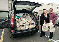 09/06/14<br /> (NO FEE PICS)Supermarket dash prize winners Herbie and Lorraine Birch pictured at Dunnes Stores ,Donaghmede where they took part in the challenge to fill their trollies&hellip;.<br /> Collins Photos