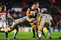 Ellis Genge of Leicester Tigers takes on the Exeter Chiefs defence. Aviva Premiership match, between Leicester Tigers and Exeter Chiefs on March 3, 2017 at Welford Road in Leicester, England. Photo by: Patrick Khachfe / JMP
