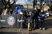 A general view of Bath Rugby supporters prior to the match. European Rugby Champions Cup match, between Bath Rugby and Leinster Rugby on November 21, 2015 at the Recreation Ground in Bath, England. Photo by: Rogan Thomson / JMP for Onside Images
