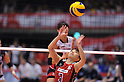 Yoshie Takeshita (JPN),.MAY 23, 2012 - Volleyball : FIVB the Women's World Olympic Qualification Tournament for the London Olympics 2012, between Japan 1-3 Korea at Tokyo Metropolitan Gymnasium, Tokyo, Japan. (Photo by Jun Tsukida/AFLO SPORT) [0003].