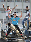 Children play on a tank captured by rebel forces in Misrata, the besieged Libyan city where civilians and rebel forces are surrounded on three sides by forces loyal to Libyan leader Moammar Gadhafi.