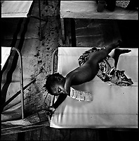 Luanda, Angola, May 19, 2006.Sabina, 2, is a patient at the Boa Vista MSF Belgium operated cholera field clinic. Between February and June 2006, more than 30000 people were infected with cholera in Angola's worse outbreak ever; more than 1300 died.