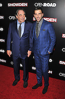 New York,NY-September 13: Oliver Stone,Zachary Quinto attends the 'Snowden' New York premiere at AMC Loews Lincoln Square on September 13, 2016 in New York City. @John Palmer / Media Punch