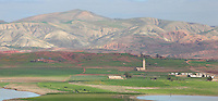 Landscape between Fes and Moulay Idriss, seen from the village of Nzala des Oudaya, Meknes-Tafilalet, Northern Morocco. Picture by Manuel Cohen