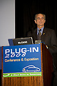 Chuck Reed, Mayor of San Jose. Opening day of the July 22-24 inaugural Plug-In 2008 Conference & Exposition: A Short Drive to Tomorrow in San Jose, CA. The event showcases the latest technological advances, market research and policy initiatives shaping the future of plug-in hybrid electric vehicles (PHEVs). Original photo is high-resolution (4368 x 2912 pixels).