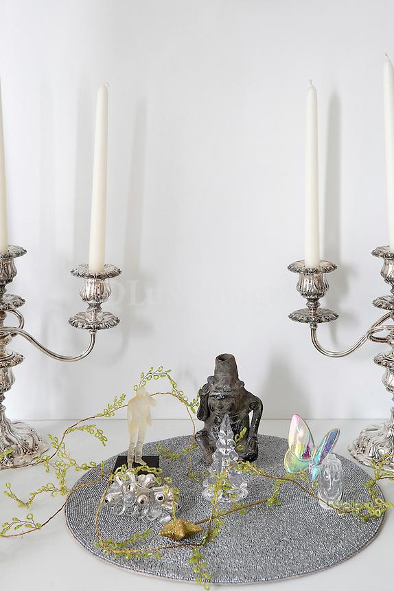 silver candelabras