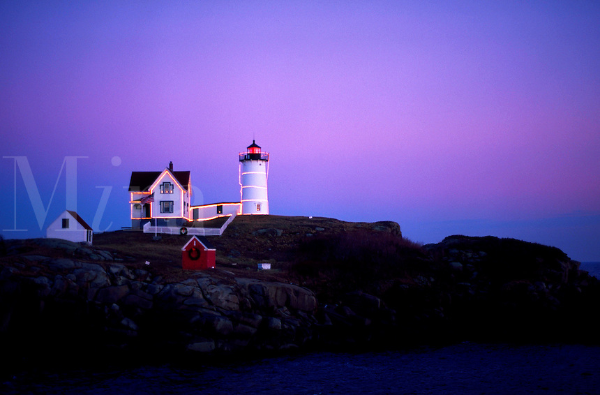 Nubble Light at Christmas, York, Maine
