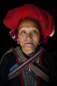 Red Dzao ethnic Hmong tribe woman, Northern Vietnam.