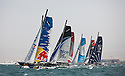Extreme Sailing Series 2011. Leg 1. Muscat. Oman.Day 2 of racing as the fleet cross the startline..