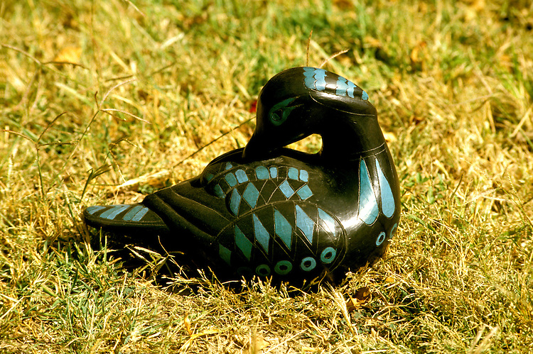 Cruising: Mexico, handicrafts, Oaxaca, black pottery duck, San Bartolo Coyotepec, Photo: crumex104  .Photo Copyright: Lee Foster, (510) 549-2202, lee@fostertravel.com, www.fostertravel.com