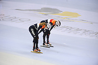 SHORT TRACK: TORINO: 15-01-2017, Palavela, ISU European Short Track Speed Skating Championships, Final Relay Ladies, Team Netherlands, Rianne de Vries (NED), Lara van Ruijven (NED), ©photo Martin de Jong