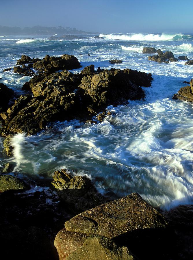 Rocky coast, Pebble Beach California, USA.