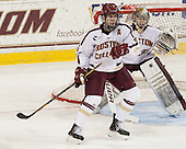 Patrick Wey (BC - 6), Parker Milner (BC - 35) - The Boston College Eagles defeated the University of Vermont Catamounts 4-1 on Friday, February 1, 2013, at Kelley Rink in Conte Forum in Chestnut Hill, Massachusetts.