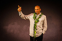 HONOLULU, Oahu, Turtle Bay Resort. Thursday 6th 2012. Kelly Slater (USA). .Since moving the show to Oahu's North Shore three years ago, the 2012 SURFER Poll saw its largest turn out ever. From surfing's best to local legends, the packed house witnessed another historic night, as Kelly Slater (USA) and Stephanie Gilmore (AUS) won this year's Men's and Women's Polls. Gabriel Medina (BRA) won the Andy Irons Break Out Performer of the year award and finished #4 on the Surfer Poll while Dane Reynolds (USA) picked up two awards as well. Photo: joliphotos.com